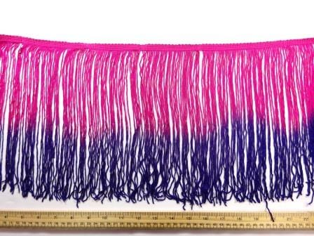 """Ombre Fringe 10"""" Cerise/Purple"""