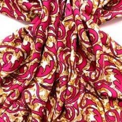 Viscose Fabric Aztec Amara khaki/cerise