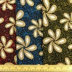 Oriental script viscose fabric