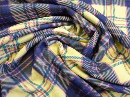 Jersey Fabric Scottish Heather Tartan