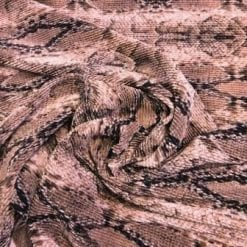 Satin Fabric Snake Hips Crystal Pleating