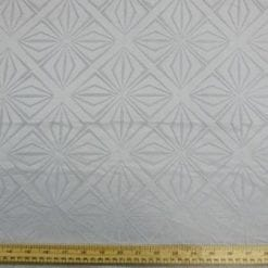 Curtaining Fabric Diamond Silver Grey