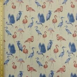 Cotton Canvas Fabric Stork Me
