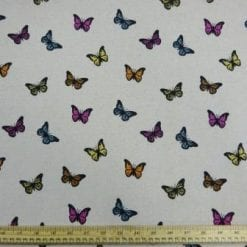 Cotton Canvas Fabric Butterflies In The Butter