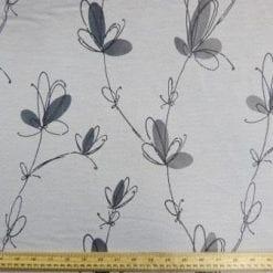 Curtaining Fabric Japanese Sprays grey