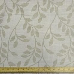 Curtaining Fabric Linen Flower Beige
