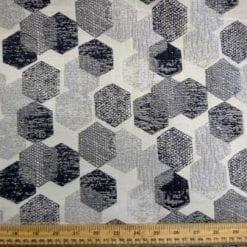 Curtaining Fabric Honey Corn grey