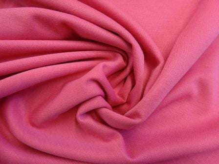 Ponte Roma Jersey Fabric Cerise Polyester