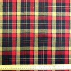 Tartan Suiting Fabric Balmoral Cranberry Red
