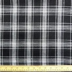 Tartan Suiting Fabric McLiquorice