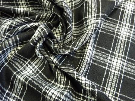 Tartan Suiting Fabric McLiquorice