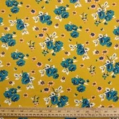 Georgette Fabric Mustard Grove Polyester