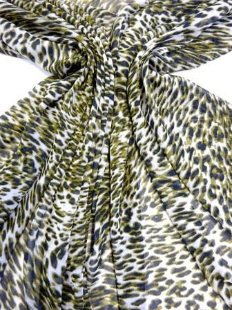 Chiffon Fabric Leopard Print See its Spots