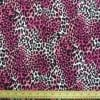 Georgette Fabric Pink Leopard Ladies Polyester