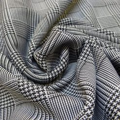 Prince o' Wales Basket Weave Printed Jersey T-shirting
