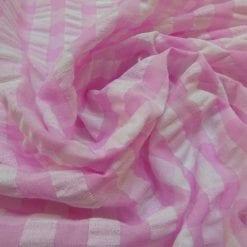 Seersucker Fabric Polyester cotton Gingham
