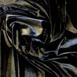 Black Velour Lycra Spandex Fabric