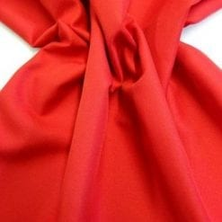 Suiting Fabric Polyester Trevira Brights Red