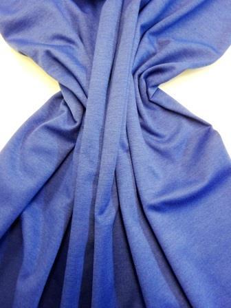 Ponte Roma Jersey Fabric Plain Colours Royal