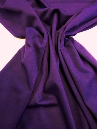 Ponte Roma Jersey Fabric Plain Colours Plum