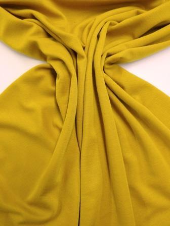 Ponte Roma Jersey Fabric Plain Colours Mustard