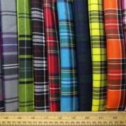 Polyester Tartan Scottish Suiting Fabric