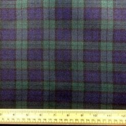 Polyester Tartan Scottish Suiting Fabric black watch