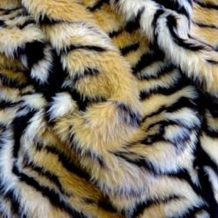 Faux Fur Patterned Animal Tiger code jb