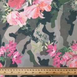 Jersey Fabric Camouflage Calypso