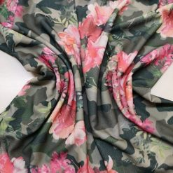 Jersey Fabric Camouflage Calypso