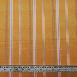 Suiting Fabric Pin Stripe Orange Lollipop
