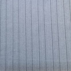 Suiting Fabric Grey Pinstripe Ben Don