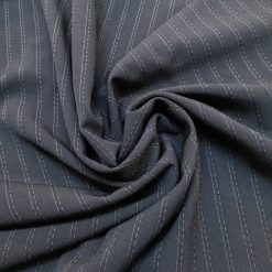 Suiting Gangster Stripe Polyester Fabric