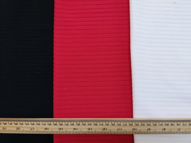 T-Shirting Jersey Fabric Wide Ribbed Plain