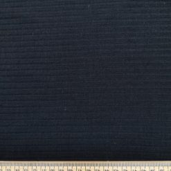 T-Shirting Jersey Fabric Wide Ribbed Plain Black