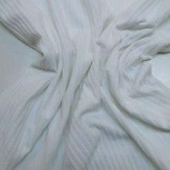 T-Shirting Jersey Fabric Wide Ribbed Plain Ivory