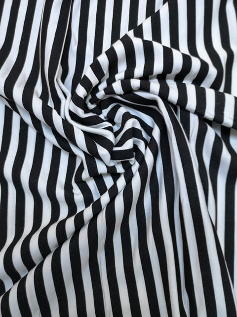 T-Shirting Hambug Black And White Stripe
