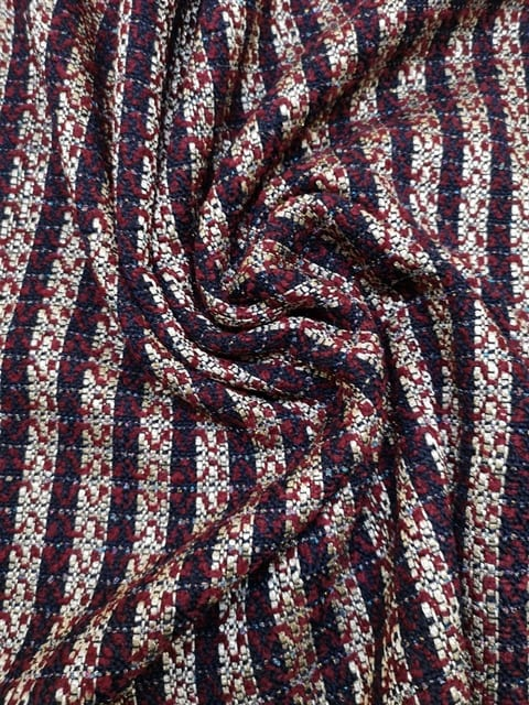 Suiting Fabric Boucle Wine/Gold Chanel