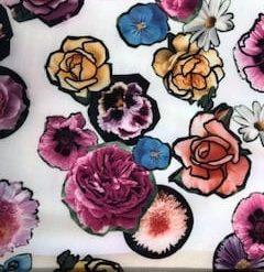 Scuba Jersey Fabric Cut Flower Display