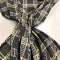 Tartan Suiting Fabric Hamilton Grey