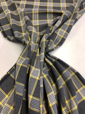 Tartan Suiting Fabric Hamilton Grey