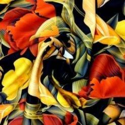 Scuba Jersey Fabric Poppy Gold