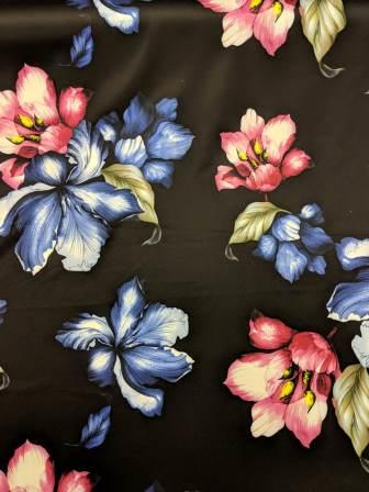 Scuba Jersey Fabric Statement Orchid