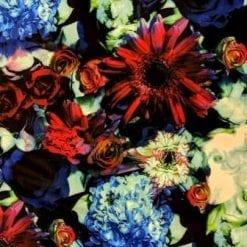Scuba Jersey Fabric Mint Rose
