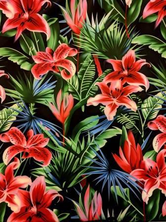 Scuba Jersey Fabric Heat Fusion Orchid