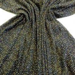Georgette Fabric Scandinavian Multi Mustard Seed