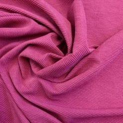 Jersey Fabric Poly Crinkle Cerise