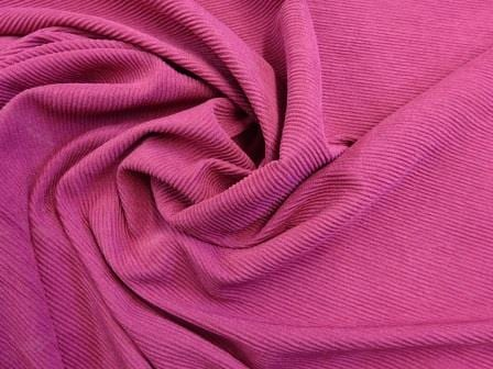 Jersey Fabric Poly Crinkle Cerise