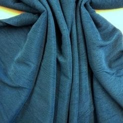 Jersey Fabric Poly Crinkle Teal