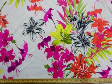 Jersey Fabric Zinnia Flower